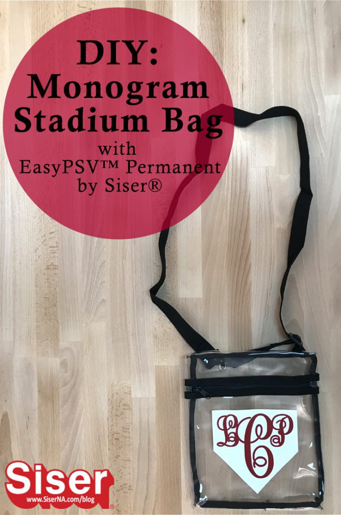 Monogram a clear plastic stadium bag with Permanent EasyPSV by Siser for a custom game day look! This adhesive vinyl is easy to cut, weed, and layer so you can have less stress and more sports.