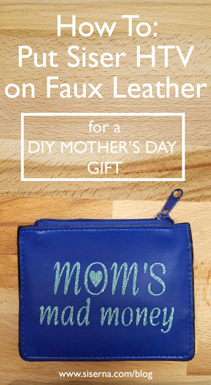Give mom a gift she'll use all year round- a coin purse just for her! Click her to learn how to heat apply Glitter heat transfer vinyl to faux leather with a heat press or home iron in today's tutorial!