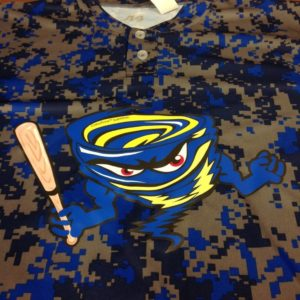 ColorPrint Sublithin on a sublimated baseball jersey stops dye migration