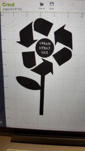 The Happy Earth Day design in Cricut Design Space.