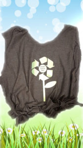 Earth Day tshirt tote bag upcycling project