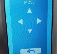 Use move arrows to roll HTV