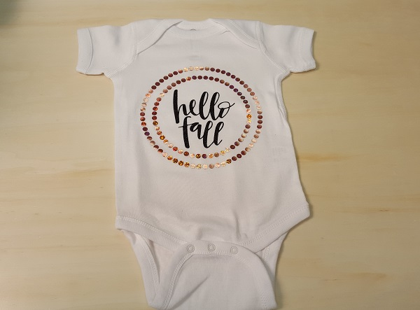 Faux stone and Glitter HTV onesie
