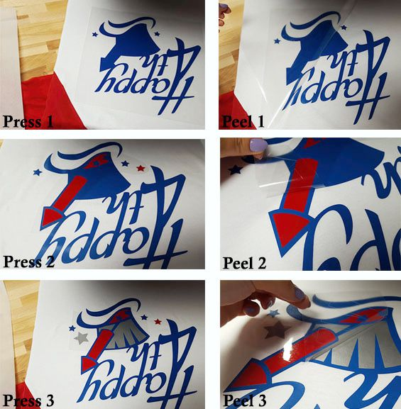 how to heat press a july 4th raglan tshirt with EasyWeed