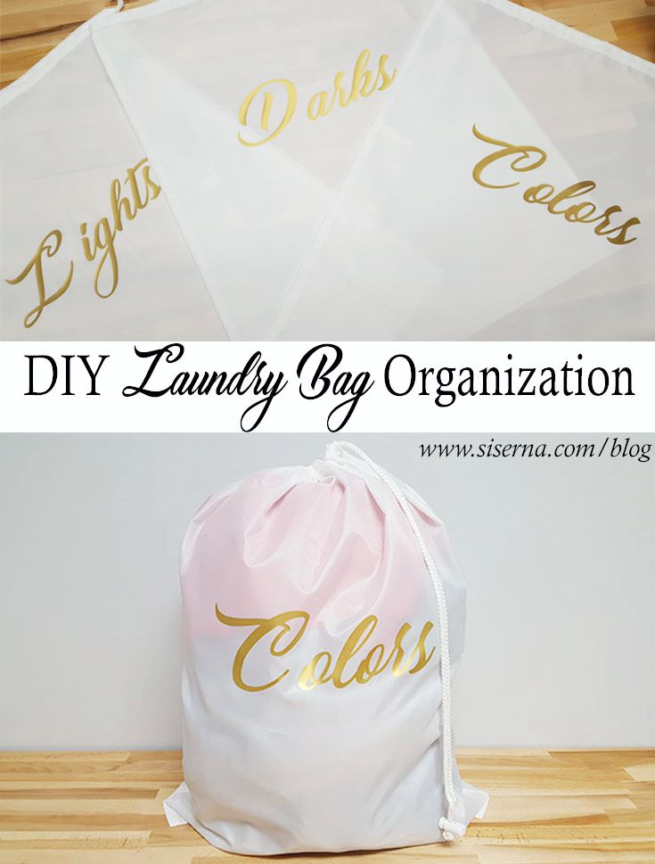 Sorting your laundry has never been so pretty! Keep unsightly laundry piles hidden and organized with this DIY laundry bag organization craft. Perfect for kids and college students!
