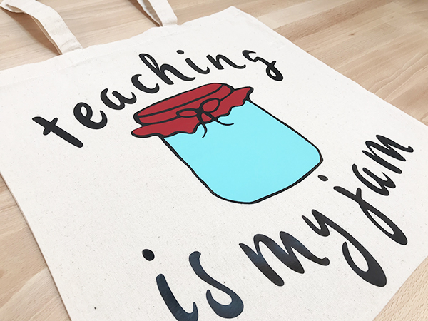DIY teaching is my jam tote bag gift for teachers