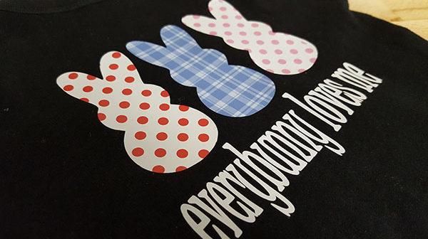 EasyPatterns in blue plaid, red polka dots, and pink polka dots
