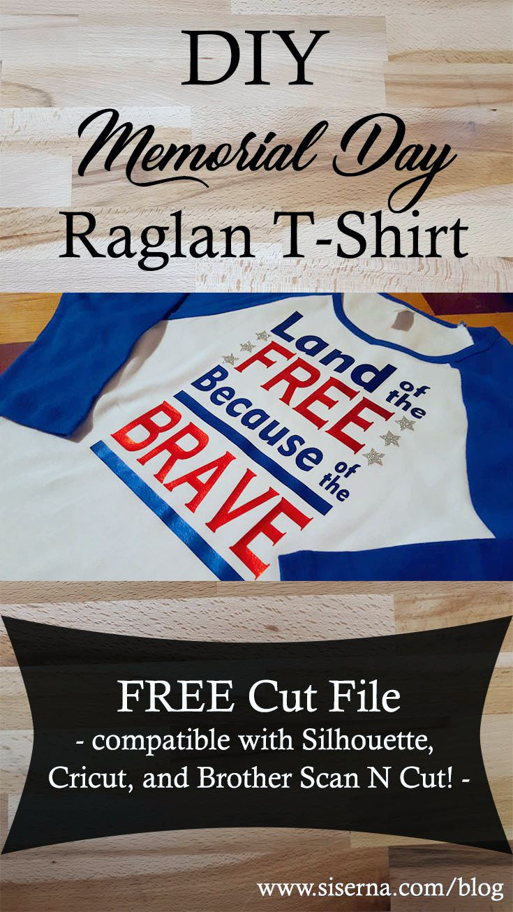 Grab the free cut file to show off your red, white and blue. Crafting a Memorial Day t-shirt is quick and easy with Siser heat transfer vinyl, home iron. and your craft cutter!