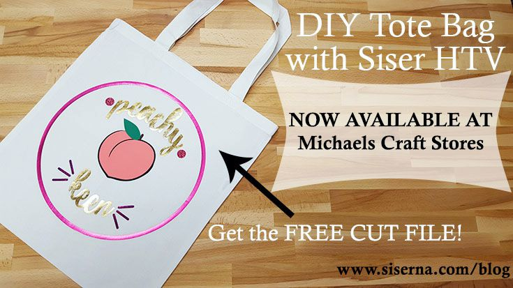 Your 1 stop shop for crafting needs just got even better! Michaels craft stores now offers Siser heat transfer vinyl! Get the free cut file and practice your HTV skills with a DIY tote bag.