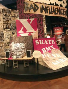 Skateboard and punk inspiration