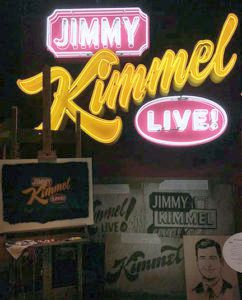 Jimmy Kimmel live neon sign by House Industries