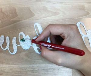 Use the Siser Weeder to pick out the centers of letters