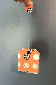 hang the sachet for a sweet scent in a cute package