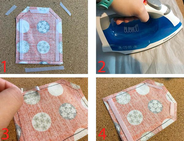 how to iron on EasyWeed Adhesive for a no sew sachet