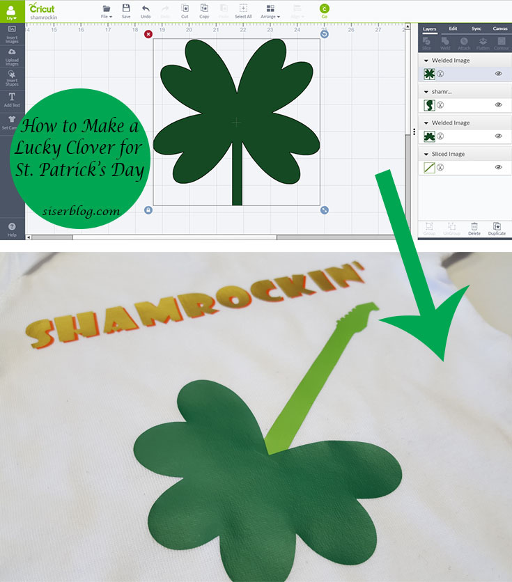 St Pattys Day Onesie How To Make A Shamrock In Cricut Design