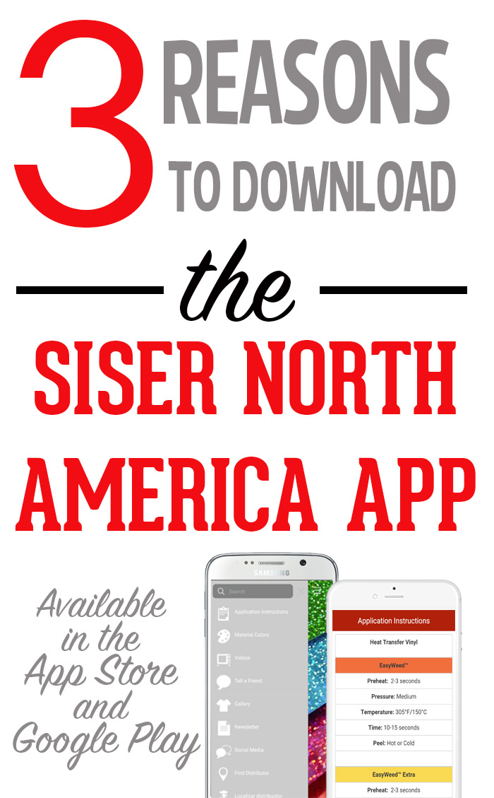 The Siser North America App is your one stop resource for everything Siser! Access application instructions, video tutorials, inspiration, and more when you download the app in the App Store or Google Play. #SiserNA