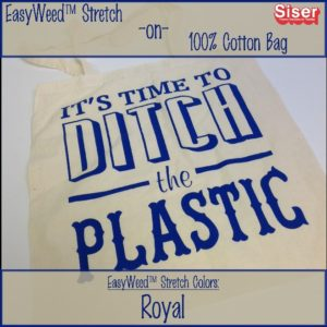 Easyweed Stretch on a 100% cotton tote bag