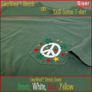 EasyWeed Stretch on a 100% cotton t-shirt