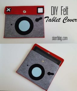 Craft a vintage camera style tablet cover to protect your modern technology with vintage! This DIY felt tablet cover comes together quickly with Siser HTV and a home iron or heat press!