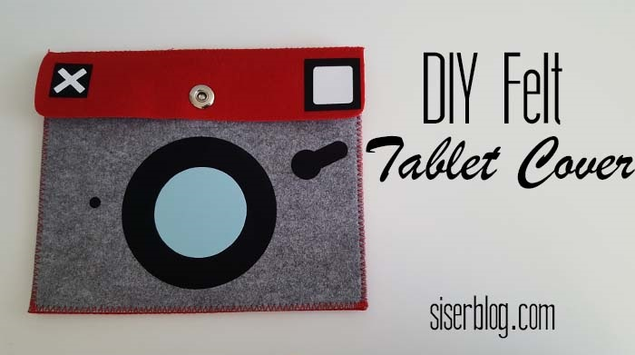 Decorate a felt tablet cover with fuzzy StripFlock iron on vinyl. Apply with heat press or home iron for any style you please. We chose to make our modern technology look vintage. See the full tutorial at siserblog.com