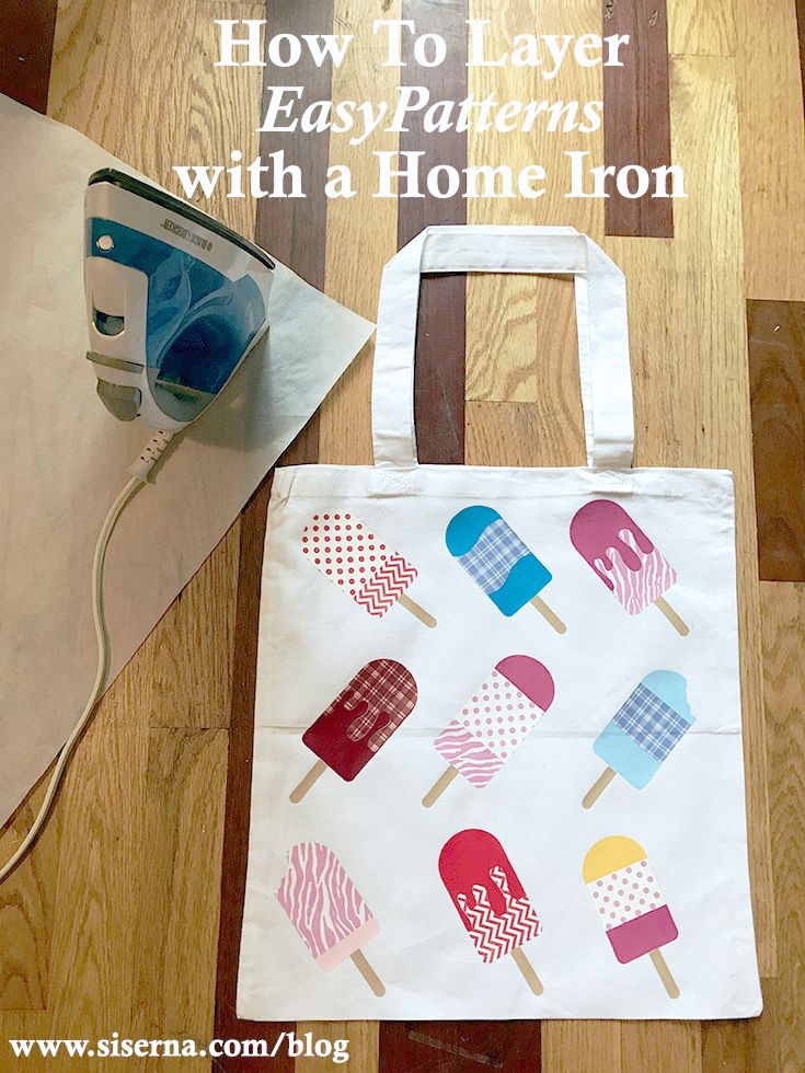 EasyPatterns™ are the easiest patterned heat transfer vinyl to cut, weed, and heat apply. Use your home iron or heat press to make a DIY tote bag that's as sweet as the patterns themselves!