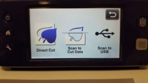 Select Scan to Cut Data on the Brother ScanNCut2