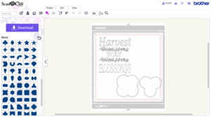 Creating a Thanksgiving design in ScanNCut Canvas