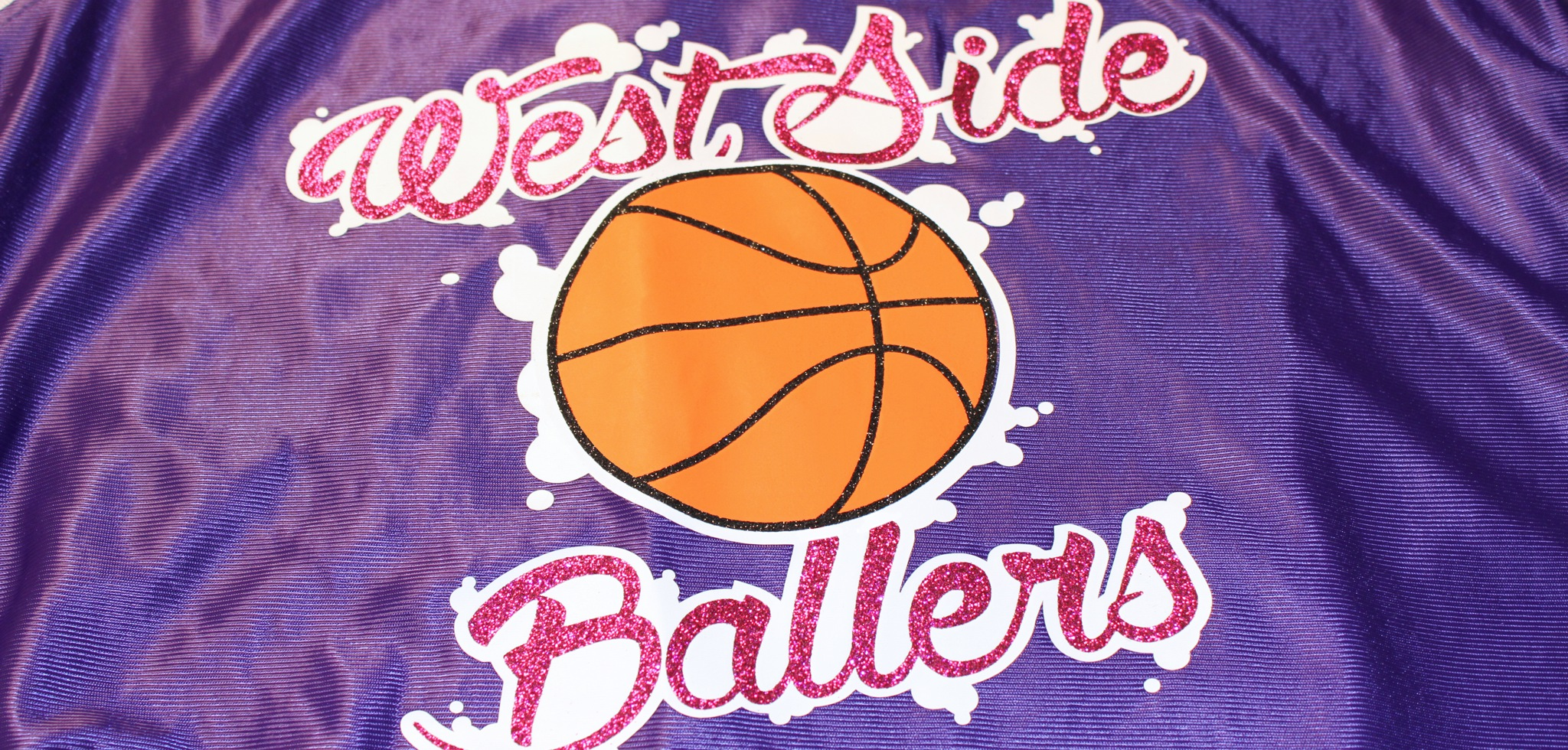Basketball jersey with EasyWeed Extra and Glitter