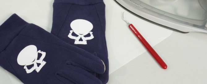 Glove printing made easy with EasyWeed heat transfer vinyl