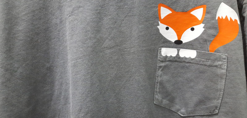 Pocket Fox made with Siser EasyWeed scraps