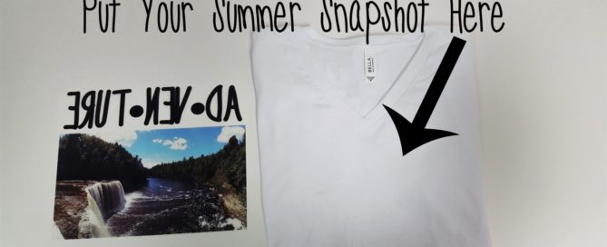 Custom vacation photo t-shirt
