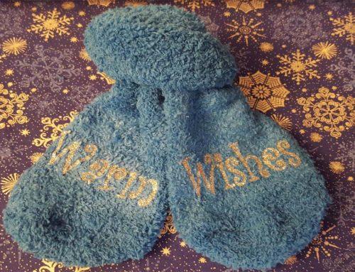 DIY Stocking Stuffer: Custom Fuzzy Socks