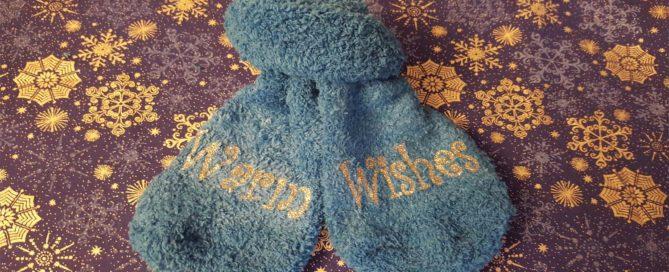 DIY Glitter Fuzzy Sock Stocking Stuffer