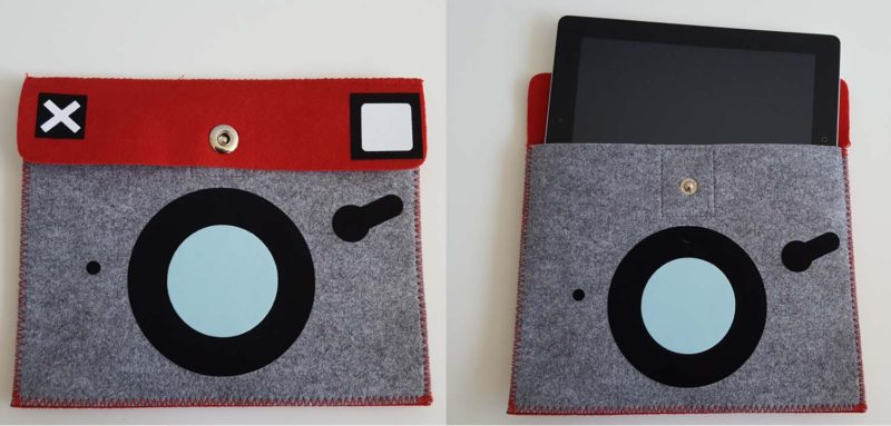 DIY a vintage camera tablet cover with Siser StripFlock HTV and your Brother ScanNCut2