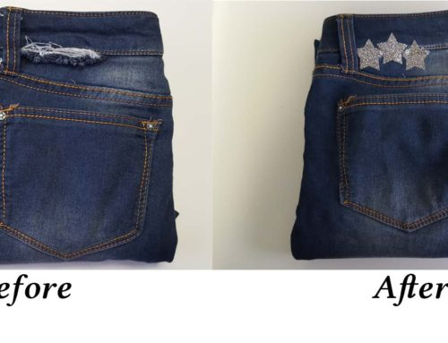 How to Mend Ripped Jeans with an HTV Patch