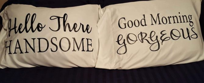 DIY Him and Her Pillowcase covers