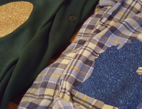 DIY Elbow Patches With Glitter HTV