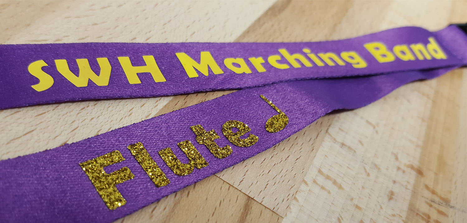 DIY custom marching band lanyard