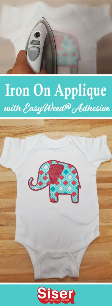 Quick, easy, cute! This DIY fabric applique is no sew and can be applied with your home iron! Check out this Silhouette Cameo tutorial for all the details!