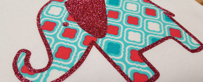 DIY fabrics applique with EasyWeed Adhesive