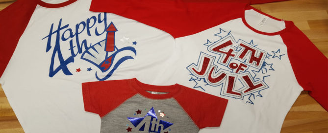 raglan tshirts with Great Dane Graphics July 4th art