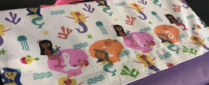 DIY mermaid picnic blanket with custom glitter