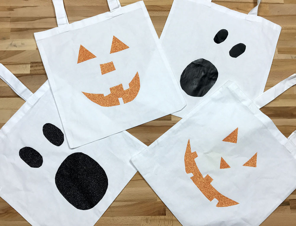 DIY Trick-or-Treat Tote Bags (No Vinyl Cutter required!)