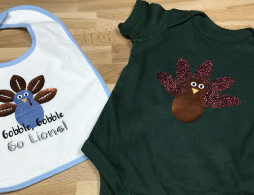 DIY Thanksgiving Turkey Onesie & Bib