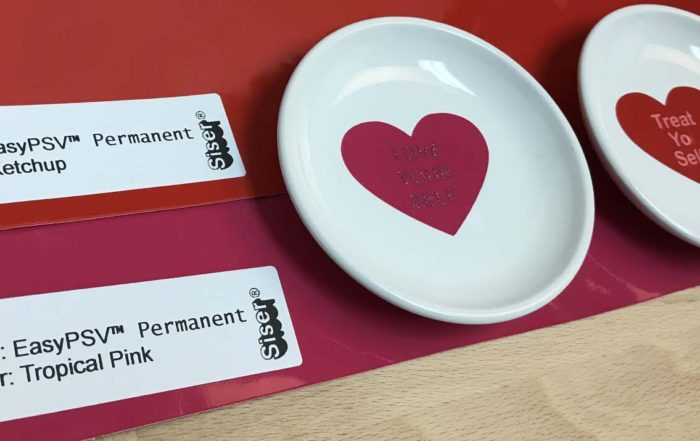 EasyPSV adhesive vinyl and Valentine's day ring dishes