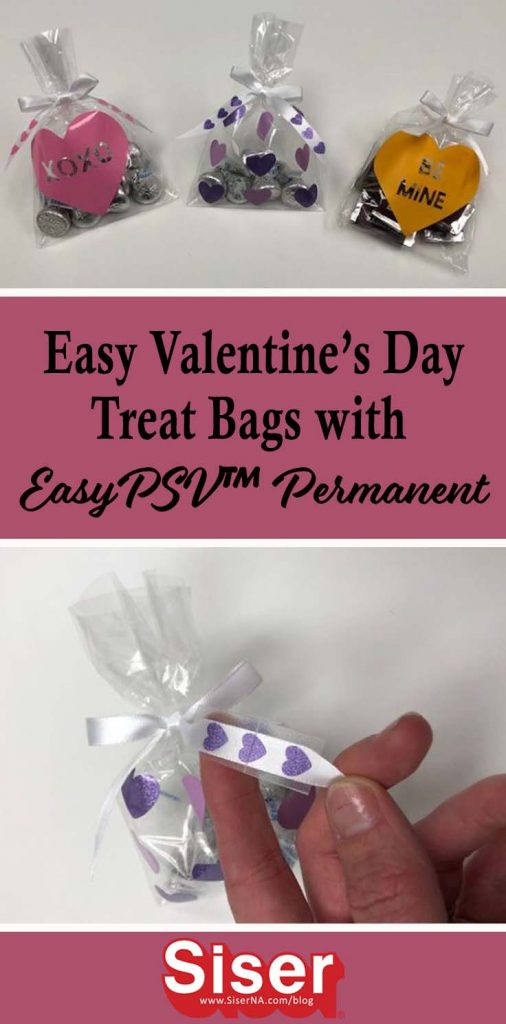 DIY treat bags are simple to make for Valentine's Day or any occasion! Decorate the bag and ribbon too when you use EasyPSV™ Permanent by Siser®.
