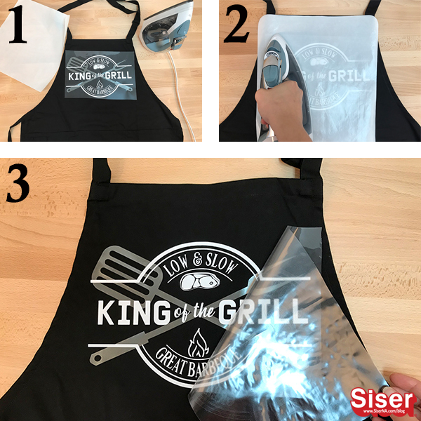 How to iron EasyWeed Stretch on to an apron