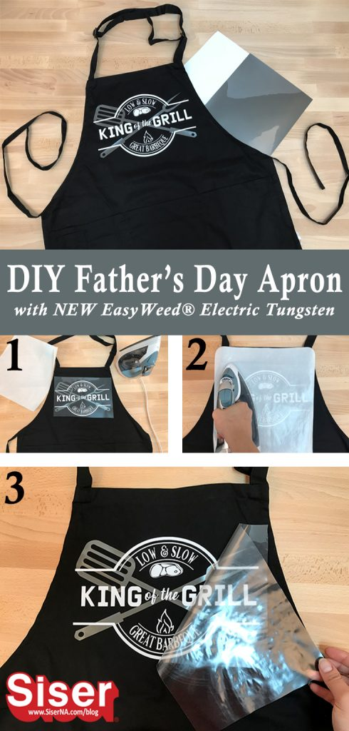 This easy father's day gift is fit for the BBQ king! You can make one too with NEW EasyWeed Electric Tungsten, EasyWeed Stretch, and your home iron or heat press!