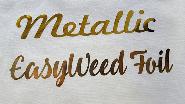 Metallic HTV and EasyWeed Foil HTV