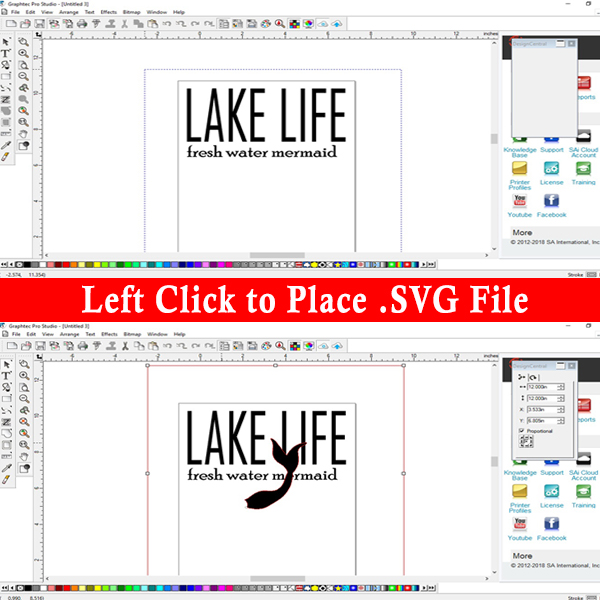 How to import an .svg file into Graphtec Pro Studio